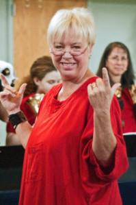 Pamn directs Bell Choir